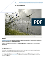 Wind Energy EndUse Applications