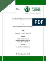 Investigacion Sobres Seguridad e Higiene Industrial en CACSA