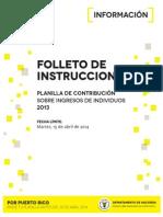 Instrucciones planillas 2013