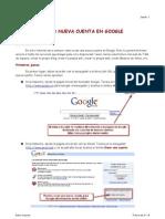 Crear una nueva cuenta en Google