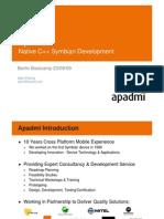 Native Symbian C++ Development Bootcamp Sept 2009