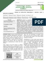 Crinum - An Endless Source of Bioactive Principles a Review - Part V