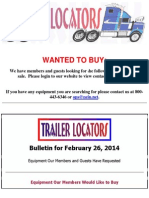Wanted To Buy - February 26, 2014