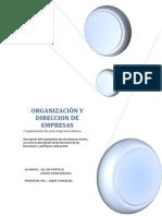ORGANIZACIÓN Y DIRECCION DE EMPRESAS
