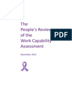 The People's Review of the Work Capability Assessment