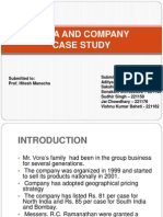 Vora and Company PPT