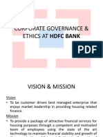 Coporate Governance & Ethics at HDFC Bank