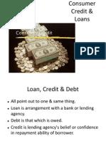 Consumer Credit Loans
