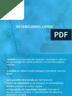 Curs 9 ,10 Metabolismul Lipidic