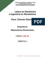 Programa Mate Elementales