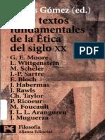 Doce Textos Fundamentales de La Etica Del Siglo XX - Gomez Sanchez, Carlos