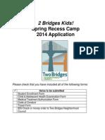 2 Bridges Kids Spring Recess Registration Form