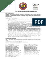 EC 2013 Rules and Regulations