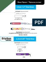 Stylus Barril Imprint 3.6-2.2cm Guides