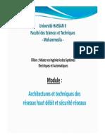 Fstm-Réseaux Haut Débit-0-Présentation