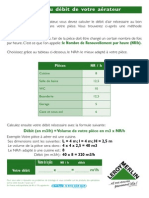 [Brico] LM - Calcul du débit de votre aérateur