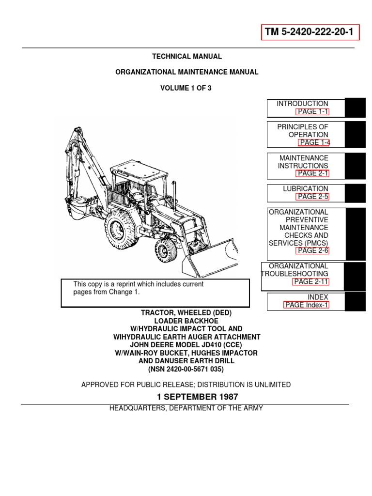 Door Closure Wiring Diagram 279c Cat Libraries 11 Tm 5 2420 222 20 1 John Deere Jd 410 Backhoe Loader Throttle Clutchdoor