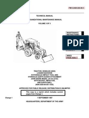 TM 5-2420-222-20-3 JOHN DEERE JD 410 BACKHOE LOADER | Loader