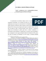 JERÓNIMO, P., Intolerância religiosa e minorias islâmicas na Europa