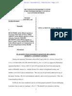 DeLeon Plaintiffs Post Submission Response