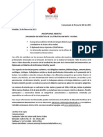 Comunicado de Prensa 002