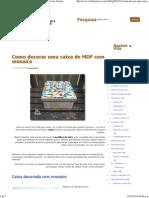 Como decorar uma caixa de MDF com mosaico - Vila do Artesão