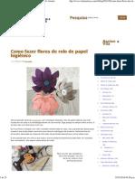 Como fazer flores de rolo de papel higiênico - Vila do Artesão