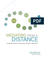 Guidelines Mediating From a Distance