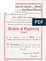 Bachelor of Engineering Certificate