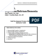 Module 6 Depression Delirium and Dementia