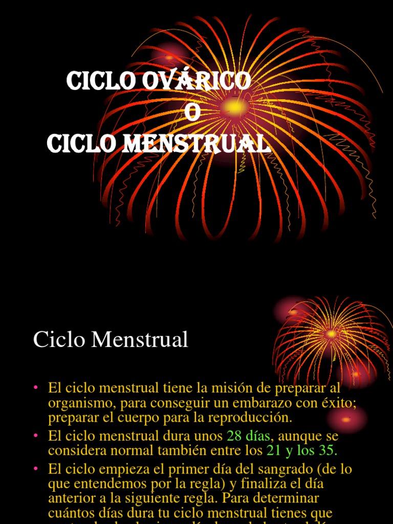 Ciclo ovárico o Ciclo menstrual UNIDAD 3