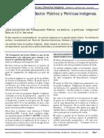 Presupuesto del Sector Público y Políticas Indígenas. Chile 1994 - 2008..pdf