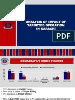 Analysis of impact of targeted operation in Karachi