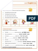 Songs the Tooth Family Worksheet Final 2012-10-09