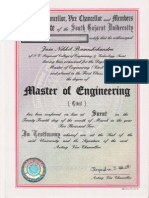Master of Engineer Certificate
