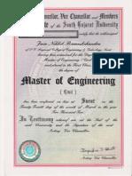 Master of Engineer Certificate