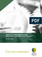 Kviselius N.Z. (2009). Risks of Open Innovation