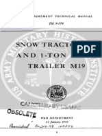 TM 9-774 Snow Tractor M7 and 1-Ton Snow Trailer M19 1944