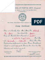 Central School of Martial Gujarat Certificate.