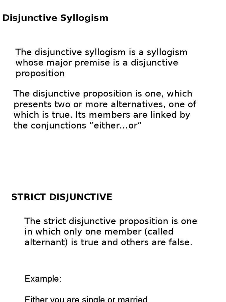Disjunctive And Conjunctive Truth Mathematical Logic