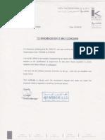 Kev Interior Certificate