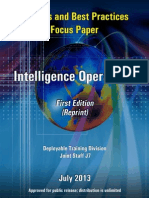 Insights and Best Practices Focus paper, Intelligence Operations, first Edition (2013) Deployable Training Division J7
