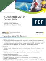 MW100CustomWeb Manual
