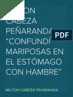 MILTON CABEZA PEÑARANDA-CONFUNDÍ MARIPOSAS EN EL ESTOMAGO CON HAMBRE