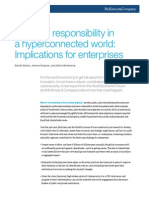 MCKINSEY - Risk and Responsability in a hyperconnected world 2014