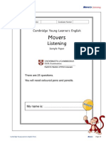 24773 Movers Listening Sample Paper
