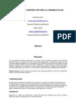 Control PID flujo en PIC