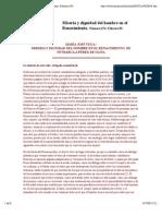 Miseria y Dignidad del Hombre en el Renacimiento- Vega, José. M (2003)