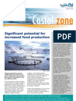 Factsheet about the use of costal zone