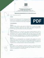 Resolucion Administrativa de La Corte de Lima